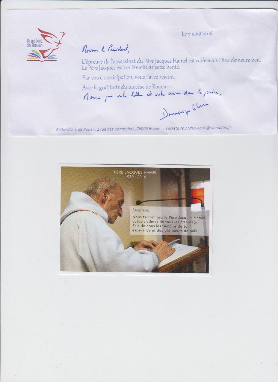 réponse archev Rouen